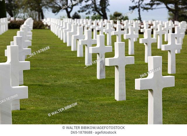 France, Normandy Region, Calvados Department, D-Day Beaches Area, Colleville Sur Mer, Normandy American Cemetary and Memorial