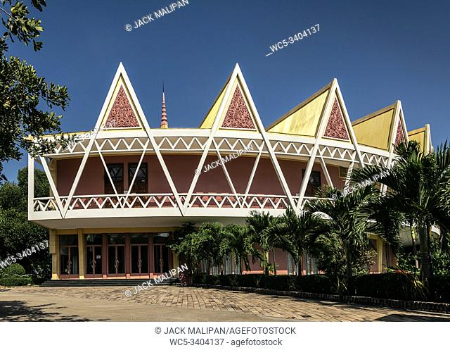 Chaktomuk Conference Hall architecture landmark building in phnom penh city cambodia