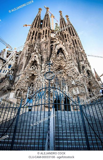 Sagrada Family, Barcelona, Catalonia, Spain, Europe