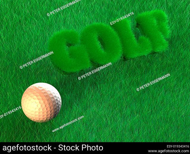 Golf - Golfball - Background - 3D