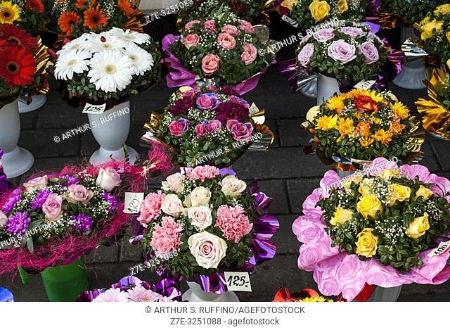 Flower Market, Old Town, Tallinn, Estonia, Baltic States