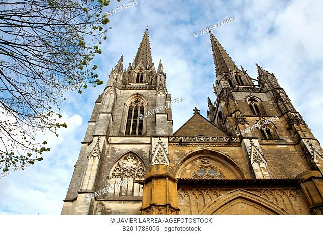 Saint Mary of Bayonne Cathedral, Prèbendes street, Bayonne, Aquitaine, Pyrenees Atlantiques, France