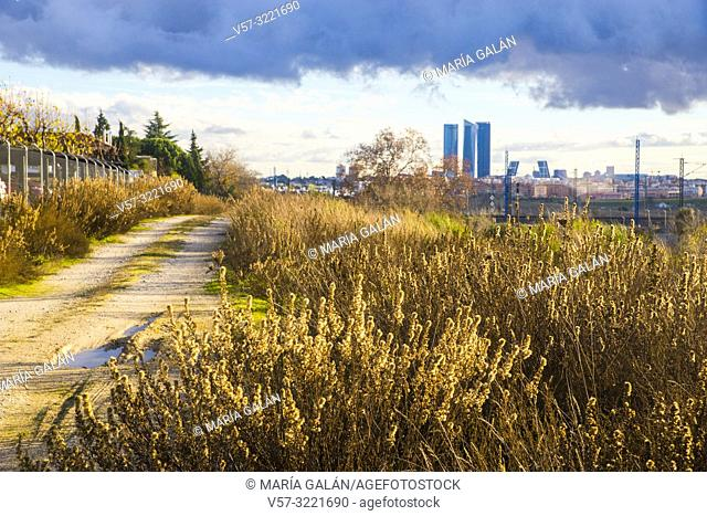 View of the city from Fuencarral. Madrid, Spain
