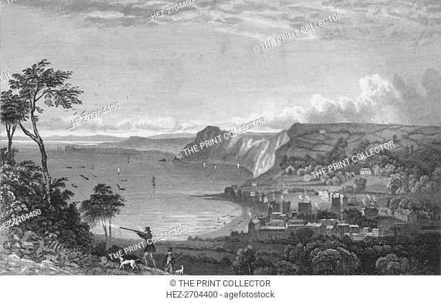 'Sidmouth, From the Cliffs, Towards Seaton', 1832. Creator: P Heath