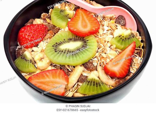 Muesli with fruits wholegrain breakfast