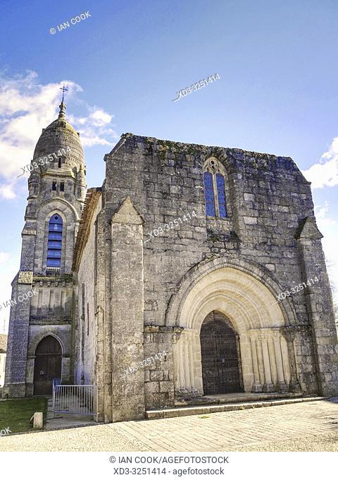 Saint Andre de Pellegrue Church, Pellegrue, Gironde Department, New Aquitaine, France