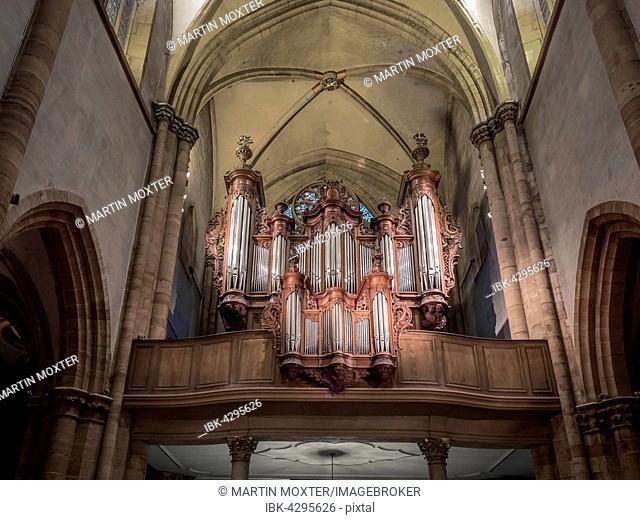 Organ loft, St Martin's Church, Colmar, Alsace, France