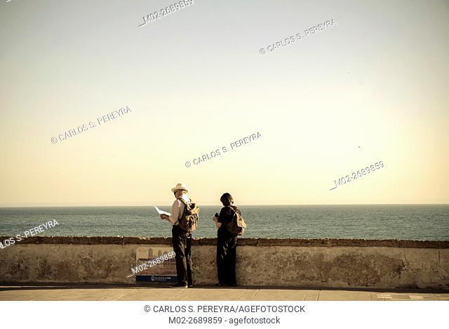 Tourist in Cadiz, Andalusia, Spain