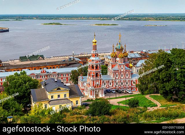 Church of the Nativity of the Blessed Virgin Mary better known as Nativity or Stroganov is a Russian Orthodox church, located in Nizhny Novgorod, Russia