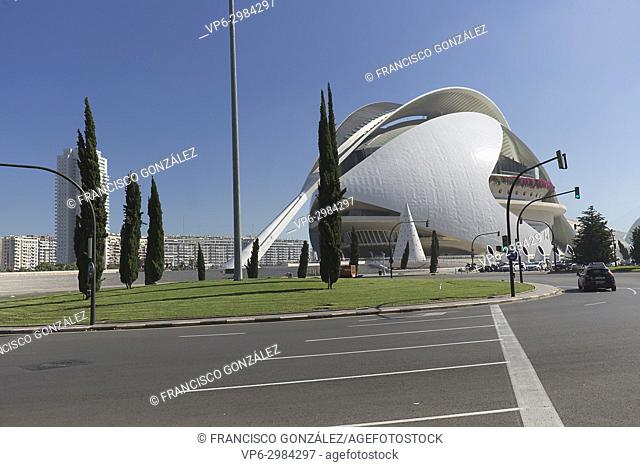The Palau de les Arts Reina Sofia is the theater of the opera of Valencia and home of the Orchestra of the Valencia Community