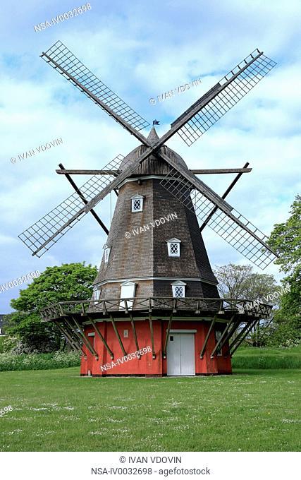 Old windmill in Kastellet. Copenhagen, Denmark