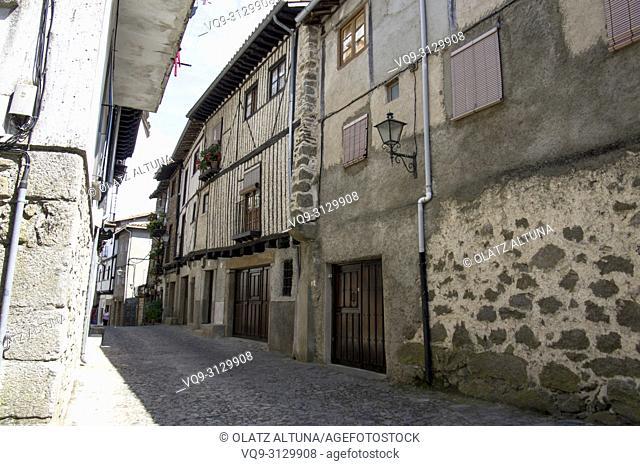 Rural village of La Alberca in Salamanca province, Castilla y Leon, Spain