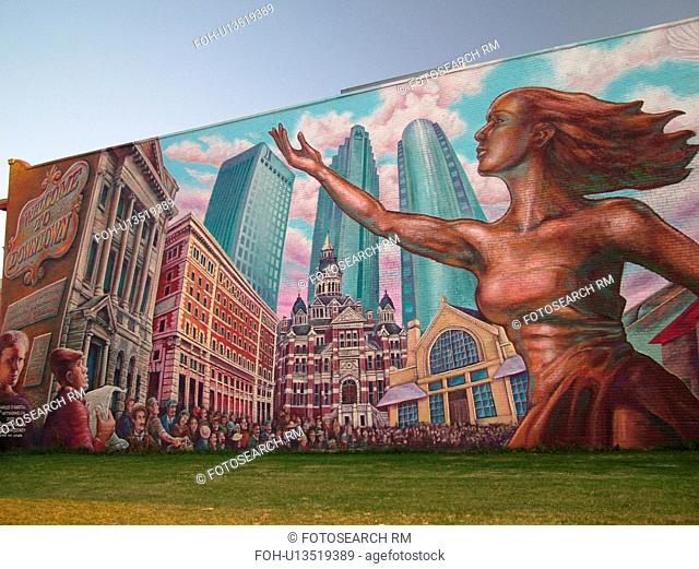 Winnipeg, Canada, MB, Manitoba, Downtown, Dominion Bank, Wall mural Take Pride Winnipeg