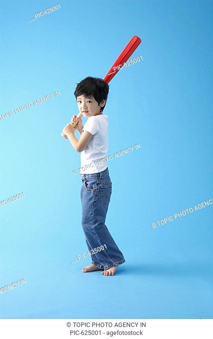 Boy with Baseball Bat, Korea