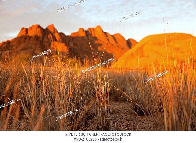 landscape with rocks around the granite mountain Spitzkoppe, Namibia, Africa