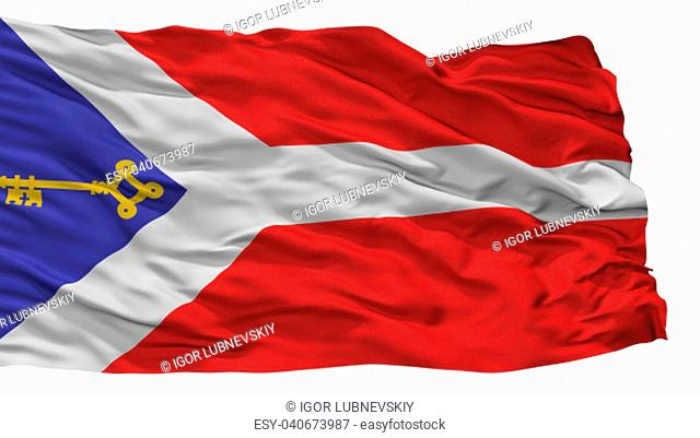 Gori City Flag, Country Georgia, Isolated On White Background