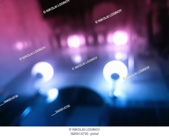 Pink and purple lamp illumination bokeh background hd