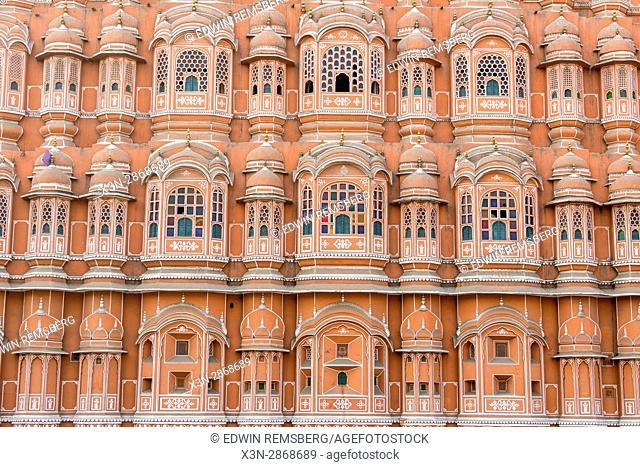 Facade of Hawa Mahal/Wind palace in Jaipur, India