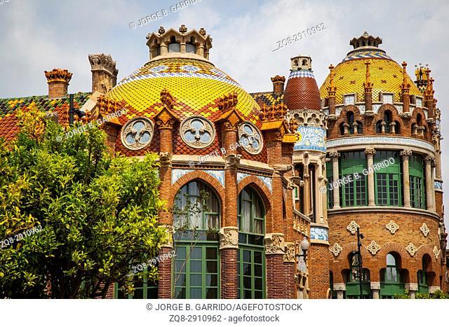 Hospital of the Holy Cross and Saint Paul, (Hospital de la Santa Creu i de Sant Pau), Barcelona, Catalonia, Spain,