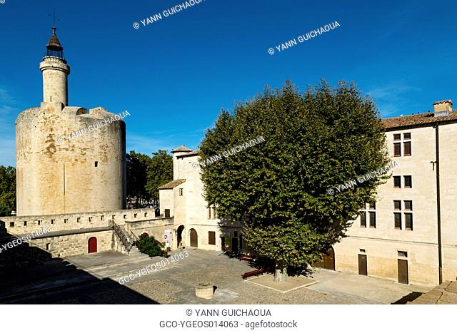 The Constance's Tower and Ramparts, Aigues-Mortes, Gard, Languedoc-Roussillon, France