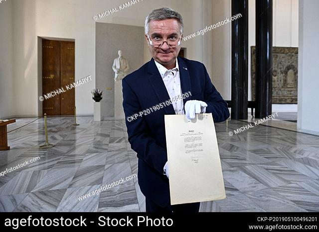 ***FILE PHOTO*** Head of Presidential Office Mynar was accused of harming EU financial interests on February 11, 2021. He filed complaint