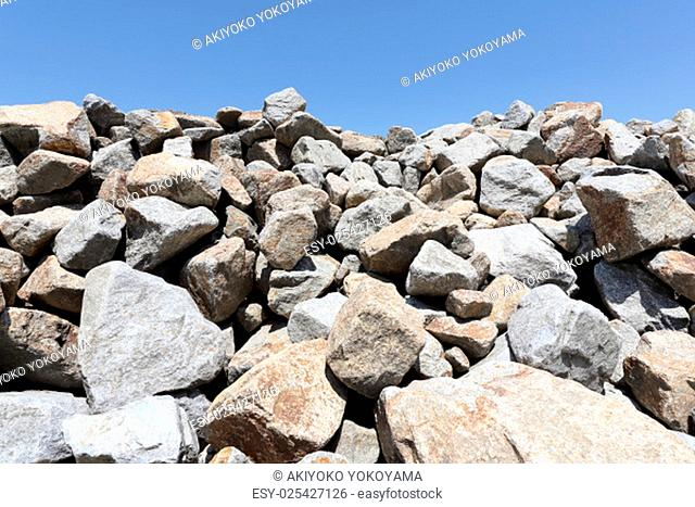 Abstract of gravel piles in a quarry