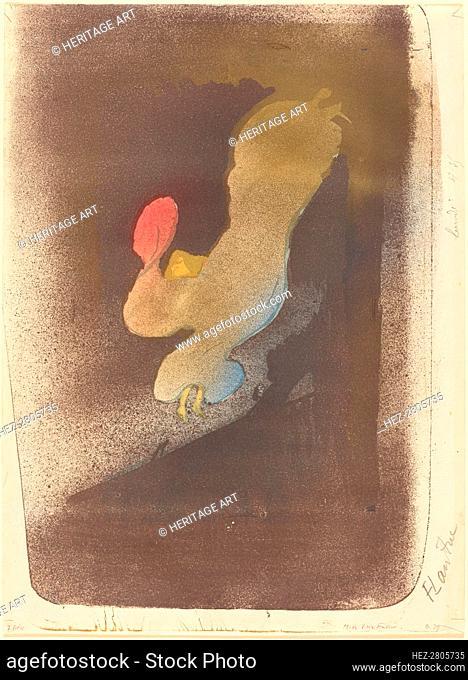 Miss Loïe Fuller, 1893. Creator: Henri de Toulouse-Lautrec