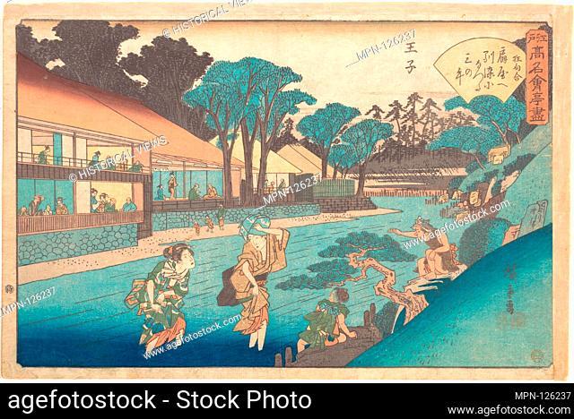The Ogiya at Oji. Artist: Utagawa Hiroshige (Japanese, Tokyo (Edo) 1797-1858 Tokyo (Edo)); Period: Edo period (1615-1868); Date: ca