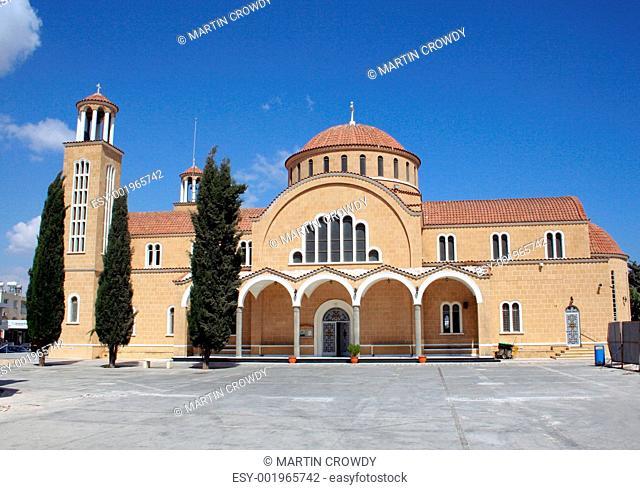 Church on island on Cyprus