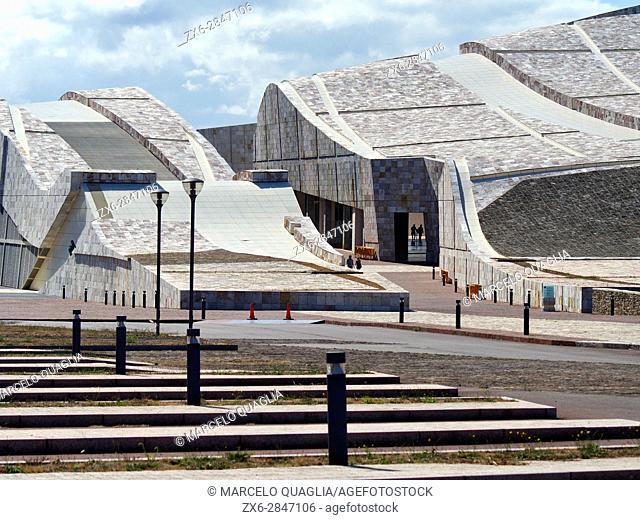 Museum building at Gaiás Cultural Center. Santiago de Compostela city. A Coruña province. Galicia Autonomous community. Spain