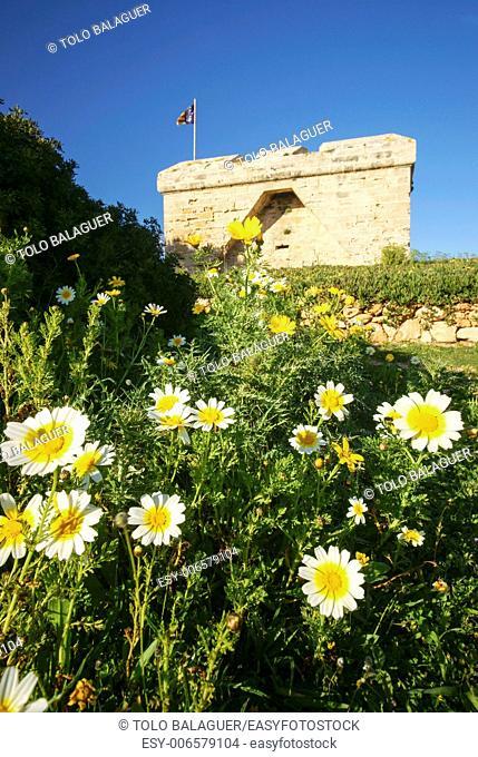 Castillo de n'Amer, XVII century. Punta de n'Amer. Son Servera. Mallorca. Balearic Islands. Spain