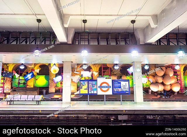 London, United Kingdom - May 13, 2019: famous London Underground station of Gloucester Road