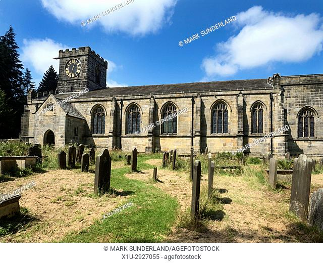 All Saints Church at Harewood Park Harewood near Leeds West Yorkshire England