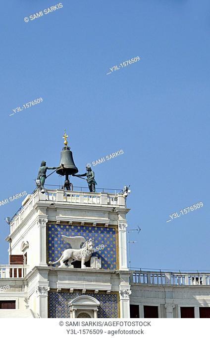 Tower of time and the moors, Piazza San Marco, Venice, Italy