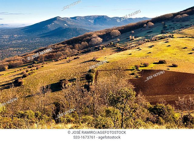 Sierra del Castañar from the Montes de Toledo Castilla la Mancha Spain