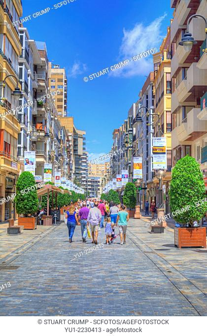 HDR of the Streets in the city of Cartagena, Region of Murcia, South Eastern Spain