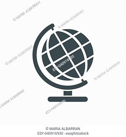 Globe icon on a white background
