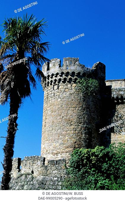 A tower of the Castle of the Dukes of Albuquerque, 1462-1474, Mombeltran, Castile and Leon. Spain, 15th century