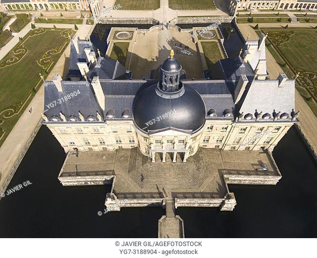 Castle of Vaux-le-Vicomte, Seine et Marne, Ile-de-france, France
