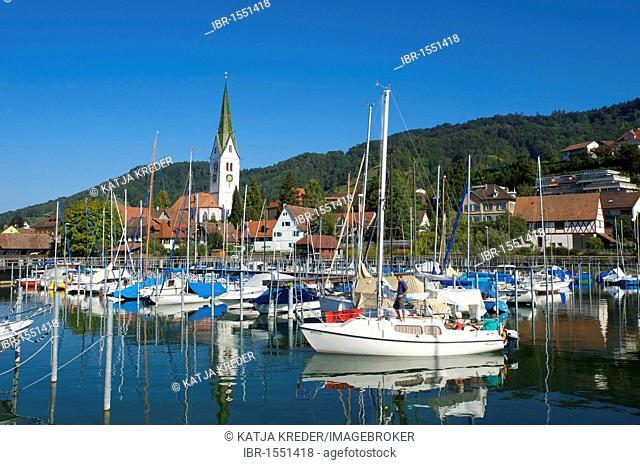 Marina of Sipplingen, Lake Constance, Baden-Wuerttemberg, Germany, Europe