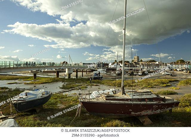 Autumn afternoon on river Adur in Shoreham-by-Sea, West Sussex, England