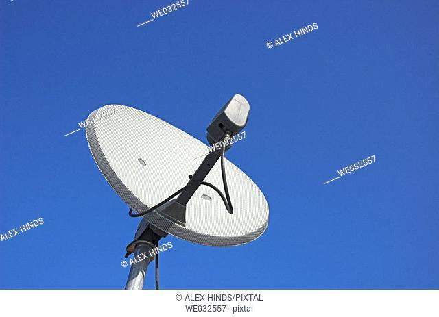 Satellite dish close up