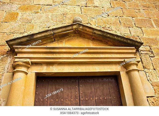 Church of Santa Maria of Su, the eighteenth century, neoclassical style   The facade is simple, with a rectangular door flanked by semi-columns which support an...