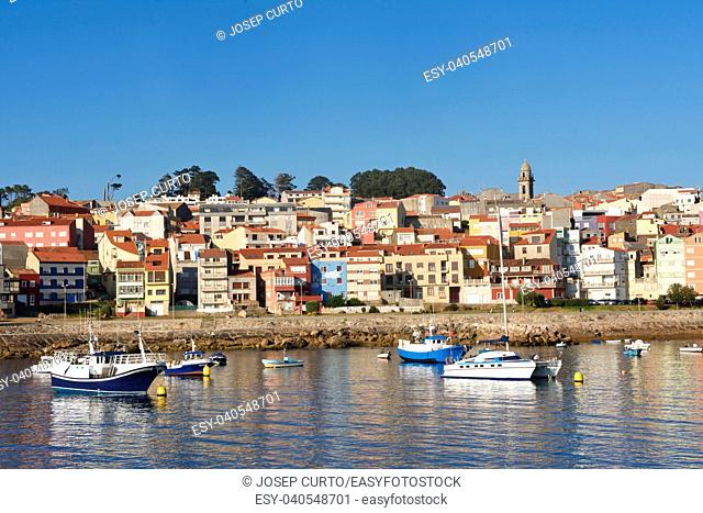 View of the fishing village of La Guardia (a Guarda) Pontevedra province, Galicia, Spain