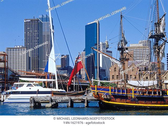 Sydney Cove and the Skyscrapers of the City