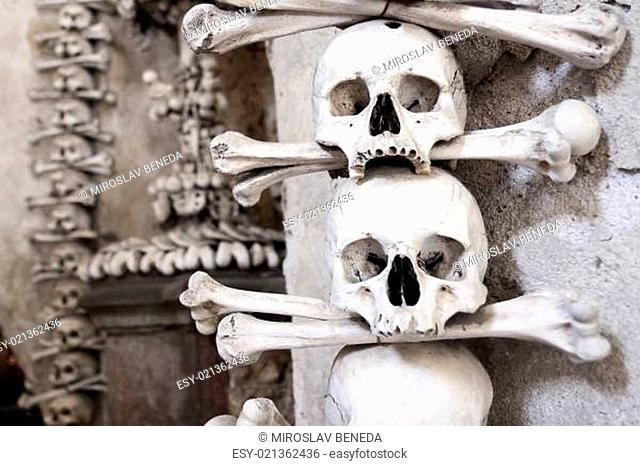 Czech Republic - UNESCO city Kutna hory - church Sedlec - charnel-house