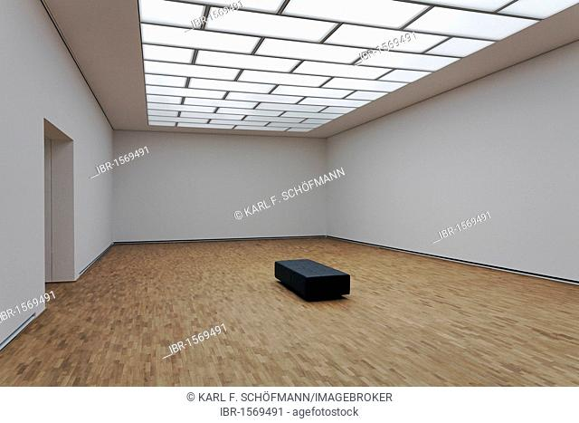 Empty exhibition space with seating, Museum Folkwang, Essen, Ruhr Area, North Rhine-Westphalia, Germany, Europe