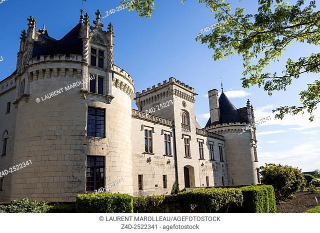 Castle of Brézé is known as a castle under a castle with an incredible Underground Fortress. Maine et Loire Department, Pays de la Loire Region, Loire Valley