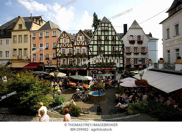 The Market square in Linz, Rhineland-Palatinate, Germany
