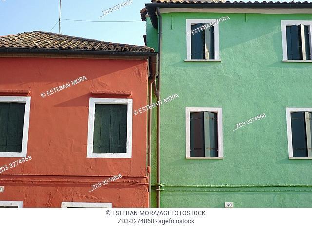 View of Burano island, Venice, Italy